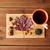 Cup · tè · foglia · d'acero · mandorla - foto d'archivio © dolgachov