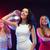 три · улыбаясь · женщины · танцы · клуба · вечеринка - Сток-фото © dolgachov
