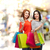 duas · mulheres · compras · supermercado · empurrando · corredor · comida - foto stock © dolgachov
