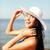 meisje · bikini · permanente · strand · zomer · vakantie - stockfoto © dolgachov