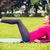 улыбающаяся · женщина · улице · фитнес · спорт · подготовки · парка - Сток-фото © dolgachov