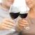 pareja · de · ancianos · potable · vino · tinto · vidrio · beber - foto stock © dolgachov