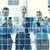 gülen · iş · adamları · akıllı · telefonlar · ofis · teknoloji · iş · ekibi - stok fotoğraf © dolgachov
