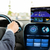 close up of man driving car with navigation system stock fotó © dolgachov