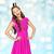 szczęśliwy · młoda · kobieta · teen · girl · różowy · sukienka · ludzi - zdjęcia stock © dolgachov