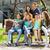 happy teenage students taking selfie by smartphone stock photo © dolgachov