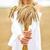 gelukkig · vrouw · granen · land · natuur - stockfoto © dolgachov