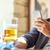 man · smartphone · drinken · bier · bar · pub - stockfoto © dolgachov