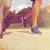 close up of couple running outdoors stock photo © dolgachov