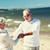 счастливым · , · держась · за · руки · лет · пляж · семьи - Сток-фото © dolgachov