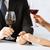 comprometido · casal · copos · de · vinho · amor · romance · férias - foto stock © dolgachov