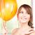 happy teenage girl with balloons stock photo © dolgachov