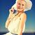 beautiful woman enjoying summer outdoors stock photo © dolgachov