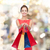 smiling elegant woman in dress with shopping bags stock photo © dolgachov