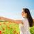 jonge · gelukkig · vrouw · poppy · veld - stockfoto © dolgachov