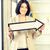 businesswoman with direction arrow sign stock photo © dolgachov