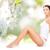seksi · kadın · bacaklar · yeşil · doğal · bahar - stok fotoğraf © dolgachov