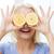 citrom · szemek · lány · vicces · arc · kislány · mutat - stock fotó © dolgachov