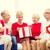 sonriendo · familia · regalos · casa · vacaciones · generación - foto stock © dolgachov
