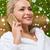 belo · mulher · jovem · sessão · banho · robe · estância · termal - foto stock © dolgachov