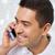 vrolijk · man · vergadering · bank · telefoongesprek - stockfoto © dolgachov