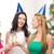 gelukkig · glimlachend · vrienden · drinken · champagne · boom - stockfoto © dolgachov
