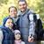 счастливая · семья · смартфон · Stick · лесу · путешествия · туризма - Сток-фото © dolgachov