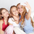 代 · 女の子 · スマートフォン · ホーム · 友情 - ストックフォト © dolgachov