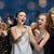 mutlu · mikrofon · şarkı · söyleme · karaoke · tatil - stok fotoğraf © dolgachov