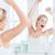 женщину · зеркало · ванную · утра · пробуждение - Сток-фото © dolgachov