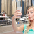 grappig · jonge · vrouw · smartphone · uitdrukkingen · technologie - stockfoto © dolgachov