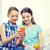 幸せ · 女の子 · スマートフォン · 座って · ソファ · 人 - ストックフォト © dolgachov