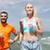 glimlachend · paar · lopen · zomer · fitness - stockfoto © dolgachov