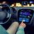 joven · conducción · moderna · coche · noche · ciudad - foto stock © dolgachov