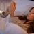 подростка · девушка · сотового · телефона · поздно · ночь · кровать - Сток-фото © dolgachov