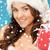 helper · meisje · geschenkdoos · foto · vrolijk - stockfoto © dolgachov
