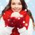 kadın · eşarp · eldiveni · Noel · top · kış - stok fotoğraf © dolgachov