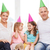 mutlu · aile · iki · çocuklar · parti · ev - stok fotoğraf © dolgachov