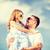 mutlu · baba · çocuk · güneş · gözlüğü · mavi · gökyüzü · yaz - stok fotoğraf © dolgachov
