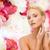 giovane · ragazza · fiori · toccare · bella · faccia · bella - foto d'archivio © dolgachov