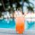 azul · coquetel · tropical · mar · pôr · do · sol · martini - foto stock © dolgachov