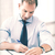 ハンサム · ビジネスマン · ノート · オフィス · 小さな - ストックフォト © dolgachov
