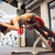 vrouw · atleet · abdominaal · spieren · gymnasium - stockfoto © dolgachov