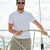 moço · óculos · de · sol · volante · iate · férias · férias - foto stock © dolgachov