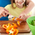 família · feliz · jantar · cozinha · comida - foto stock © dolgachov