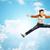 少年 · 楽しい · ジャンプ · 青空 · 髪 · 靴 - ストックフォト © dolgachov