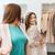gelukkig · vrouw · poseren · spiegel · kleding · store - stockfoto © dolgachov