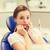 bang · patiënt · meisje · tandheelkundige · kliniek - stockfoto © dolgachov