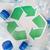 plastik · şişeler · geri · dönüşüm · simge · atık - stok fotoğraf © dolgachov