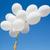 branco · hélio · balões · blue · sky · férias - foto stock © dolgachov